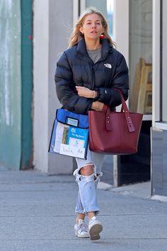 Sienna Miller, New York, Autumn Winter Fashion, Winter Style, City Style, Hermes Birkin, London Fashion, Spring Outfits, Street Style