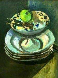 Matisse Green Apple & Nutcracker in a Bowl 1912