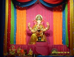 Ganesh Chaturthi Decoration Images For Home Ganesh Chaturthi Decoration