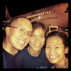 Touchdown Kalibo! :P Only 45 min flight time :) #thankyouZest