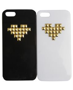 2 Pack Heart Studded Phone Case from Wet Seal