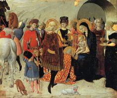Sassetta (Stefano di Giovanni),Adoration of the Magi;about 1435,Siena,Chigi-Saracini Collection (Monte dei Paschi).