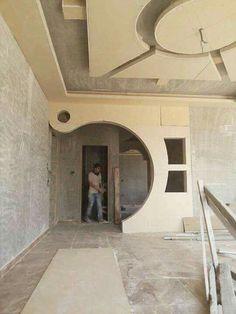 Tv Wall Design, Pop Design, Modern Design, Ceiling Light Design, False Ceiling Design, Luxury Homes Interior, Interior Architecture, Drywall, Plafond Design