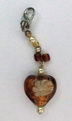 Made by LaVerne Mulvey - LaCraft Fun / Zipper pull or key chain bling (hang on zipper on purse)