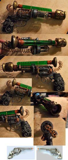 Tesla Western Steampunk Pistol by *ajldesign on deviantART