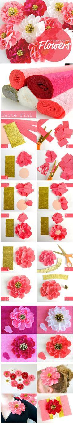Krepp-paberist lilled