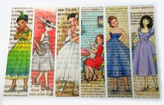 Paris Bookmarks Femmes de Paris Set of 6 by CastleOnTheHill