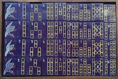 Beautiful purple set seen on Mahjong Treasures