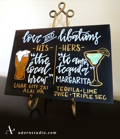 What do you do when you're uber excited about your best friend getting married!?   You make beautiful signs to celebrate of course...  Adorn Studio   adornstudio.com