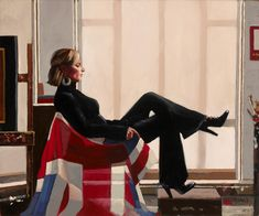 Olympia, Portrait of Zara Phillips (Jack Vettriano)