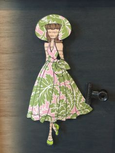 Floral Camille Pieced Doll by hsufly on Etsy