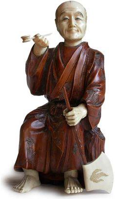 japanese okimono | Antique Japanese Ivory and Wood Okimono
