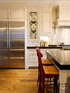 kitchen cabinets with sparkle of multi drawer refrigerator