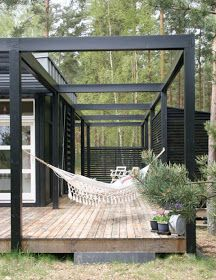The pergola kits are the easiest and quickest way to build a garden pergola. There are lots of do it yourself pergola kits available to you so that anyone could easily put them together to construct a new structure at their backyard. Pergola Carport, Pergola Patio, Small Pergola, Small Patio, White Pergola, Pergola Swing, Iron Pergola, Wisteria Pergola, Corner Pergola