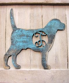 Another great find on #zulily! Blue Dog Initial Wall Art #zulilyfinds