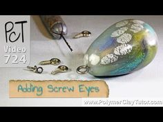 Adding Screw Eyes to Polymer Clay Charms and Pendants Polymer Clay Tools, Polymer Clay Bracelet, Polymer Clay Pendant, Polymer Clay Projects, Polymer Clay Charms, Clay Crafts, Jewelry Making Tutorials, Clay Tutorials, Video Tutorials
