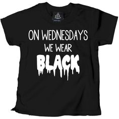 Inked Boutique - On Wednesday We Wear Black T-Shirt Alternative Goth www.inkedboutique.com