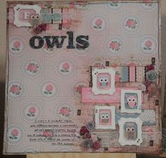 """""""Five Owls"""" layout by Carol Theng"""