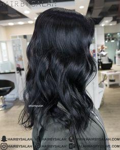 Ultra Shiny Black Hair from Hair By Salah. www.hairbysalah.com #hair #blackhair #shinyhair #haircare #hairfashion #hairoftheday #hairbysalah #hairstyle #hairstyles #style #haircut #wavyhair #balayage #haircoloring #hairinspiration #darkhair #hairtreatment #makeup #beauty #dubai #saudi #abudhabi #saudiarabia #beachwaves #hairstyling