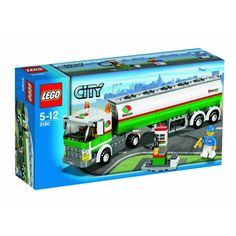 Help keep the cars, trucks and airplanes of LEGO® City moving by transporting gasoline to all the gas stations in town. Fill up the fuel pump with the truck's extending hose line, or use the dispenser to fill the Tank Truck's own gas tank to keep it rolling right along! Includes truck driver minifigure.