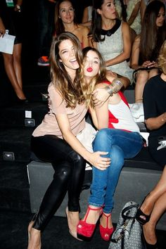 Ana de Armas Photos - Actresses Juana Acosta (L) and Ana de Armas (R) attend a fashion show during the Mercedes Benz Madrid Fashion Week Spring/Summer 2013 at Ifema on September 1, 2012 in Madrid, Spain. - Mercedes Benz Fashion Week Madrid S/S 2013 - Celebrities