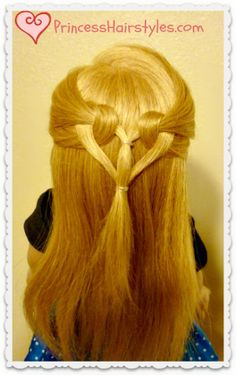 Cute and easy heart knot hairstyle, Valentine's Day.