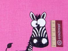 Absolut niedlicher Zebra - bestens geeignet für Taschen und Deko.    Öko-Tex Standard 100