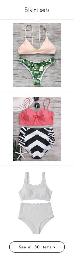 """Bikini sets"" by rosegal-official ❤ liked on Polyvore featuring bikini, swimwear, swimsuit, coverUp, rosegal, bikinis, bikini swimwear, bikini swim wear, bikini two piece and bikini beachwear"