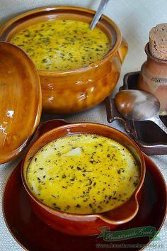 Ciorba de cartofi cu tarhon Soup Recipes, Vegetarian Recipes, Cooking Recipes, Food Wishes, Hungarian Recipes, Romanian Recipes, Romanian Food, Warm Food, Appetisers
