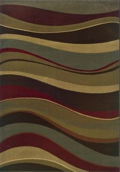 Sphinx Harley Area Rug 2364G Waves Lines 5' x 7' 6' Rectangle, Multi