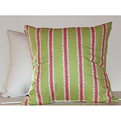 @Overstock - These Squiggy Decorative Pillows are the perfect addition to any room to add that extra pop of color. The front of the pillow is made out of a beautiful pink and green watermelon stripe. http://www.overstock.com/Home-Garden/Squiggy-Decorative-Pillows-Set-of-2/6585261/product.html?CID=214117 $53.99