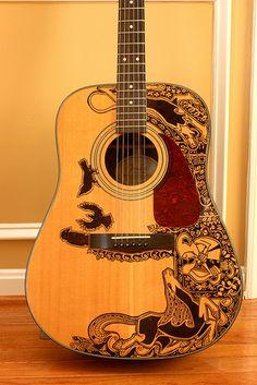 Another sharpie guitar by Maggie Stiefvater.
