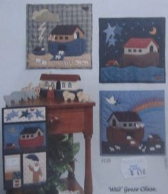 Noah's+Ark+Quilt+Pattern+Uncut+Wall+Hanging+40+Days+and+40+Nights+Wild+Goose+Chase+#118