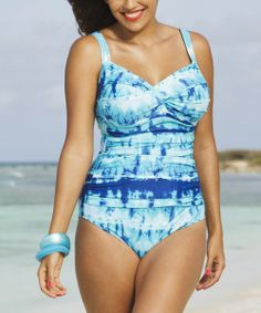 Blue Indian Wells Twist Maillot