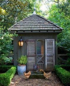 Super cute garden shed