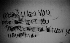 Writing Prompt -- He sees words on the wall. Constantly. The voice in his head made real. But no one else sees them.
