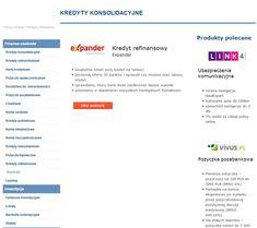 KREDYT REFINANSOWY EXPANDER https://kubuszek.produktyfinansowe.pl/kredyty-refinansowe.html