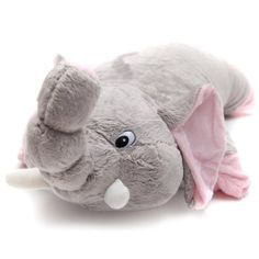 Greenlatex Thailand Natural Latex Elephant Doll Pillow Grey