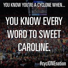 RETWEET if you love Sweet Caroline #cyclONEnation pic.twitter.com/bMEAUDYPwp