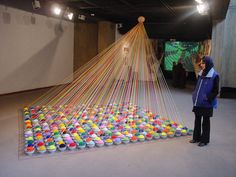 Ben Houston - Visual Culture Minimilism and Conceptual Art What Is Conceptual Art, Interactive Art, Yarn Bombing, Display Design, Recycled Art, Art Plastique, Installation Art, Art Installations, Art Google