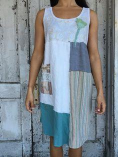 Keily dress-medium large-artsy-Eco Clothing-Upcycled by lovehigher