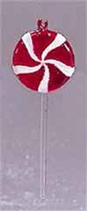 Peppermint Twist Red and White Lollipop Christmas Ornament