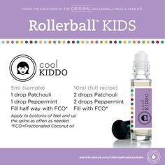 Kids essential oil roller bottle recipe: cool kiddo!