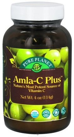 Amla C Plus - 4 oz - Powder by Pure Planet. $15.89. Pure Planet Brings Amla-C PLUS to    America!   The very best source of vitamin C Mother Nature has given us is now    available for the first time from Pure Planet Products in Amla-C PLUS.    The amla berry, (Emblica officinalis), has long been revered in    Ayurvedic medicine and is packed with whole food vitamin C and naturally    occurring bioflavonoids. Research shows that amla is 12 times more    assimilable and...