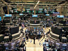 floor of the New York Stock Exchange, Wall & Broad Streets. -The floor of the New York Stock Exchange, Wall & Broad Streets. Wall Street Stocks, After The Fall, Dow Jones Industrial Average, Surf City, Day Trading, Trading Desk, Economics, Stock Market, Solar Power