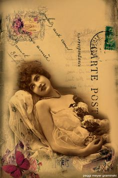 Vintage Portrait Beautiful Lady Altered Wall by AJoyfulStudio, $20.00
