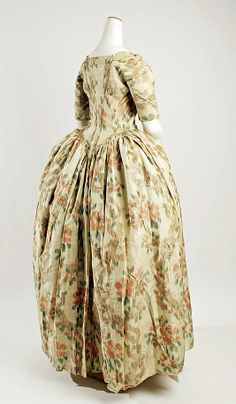 Watered silk - so French. Robe a l'Anglaise ca. 1750-75