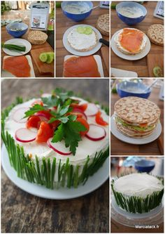 comment faire un sandwich cake Snacks Für Party, Appetizers For Party, Tee Sandwiches, Salad Cake, Sandwich Cake, Tasty, Yummy Food, Cooking Recipes, Healthy Recipes