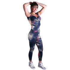 Macacão fitness estampado - moda academia fitness shoptodaemforma