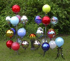 Collection of gazing globes